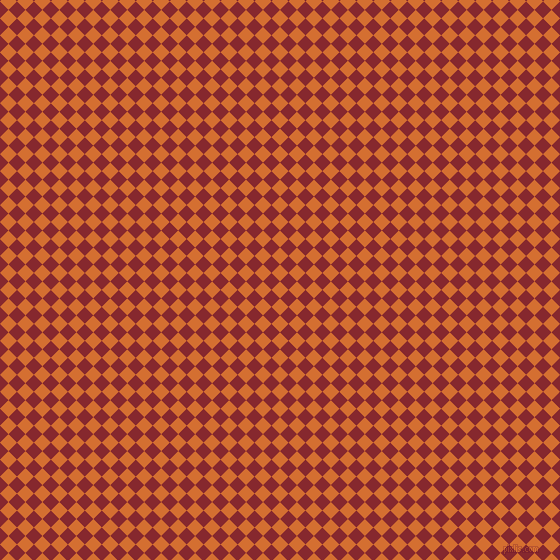 45/135 degree angle diagonal checkered chequered squares checker pattern checkers background, 12 pixel squares size, Tango and Flame Red checkers chequered checkered squares seamless tileable