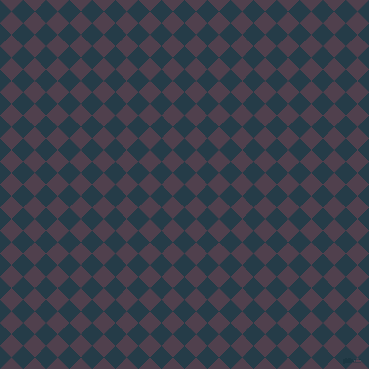 45/135 degree angle diagonal checkered chequered squares checker pattern checkers background, 33 pixel square size, , Tarawera and Purple Taupe checkers chequered checkered squares seamless tileable