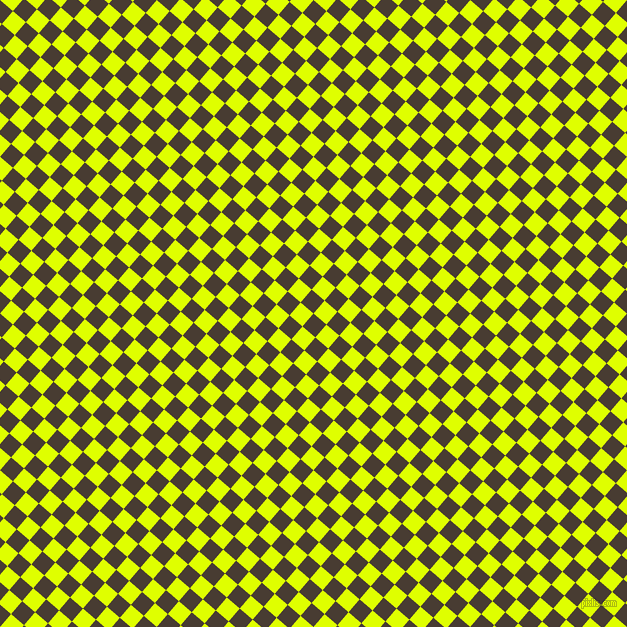 49/139 degree angle diagonal checkered chequered squares checker pattern checkers background, 17 pixel squares size, , Taupe and Chartreuse Yellow checkers chequered checkered squares seamless tileable