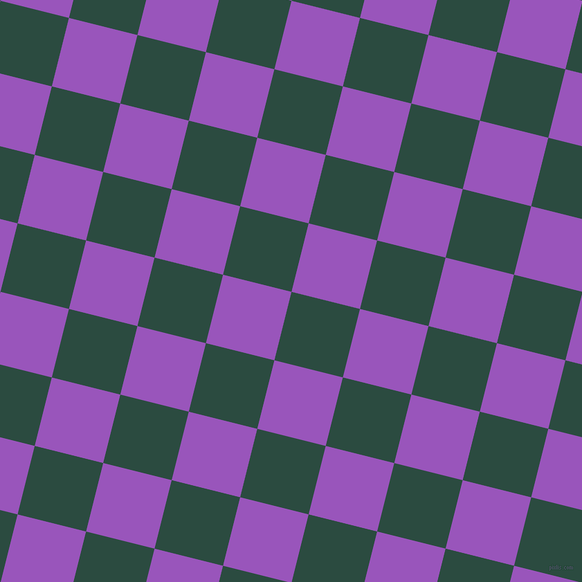 76/166 degree angle diagonal checkered chequered squares checker pattern checkers background, 102 pixel squares size, Te Papa Green and Deep Lilac checkers chequered checkered squares seamless tileable