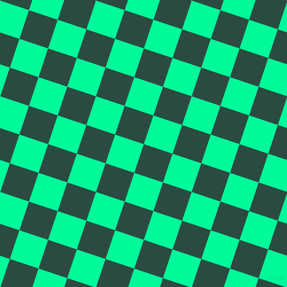 72/162 degree angle diagonal checkered chequered squares checker pattern checkers background, 60 pixel squares size, , Te Papa Green and Medium Spring Green checkers chequered checkered squares seamless tileable