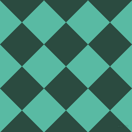 45/135 degree angle diagonal checkered chequered squares checker pattern checkers background, 104 pixel square size, , Te Papa Green and Puerto Rico checkers chequered checkered squares seamless tileable