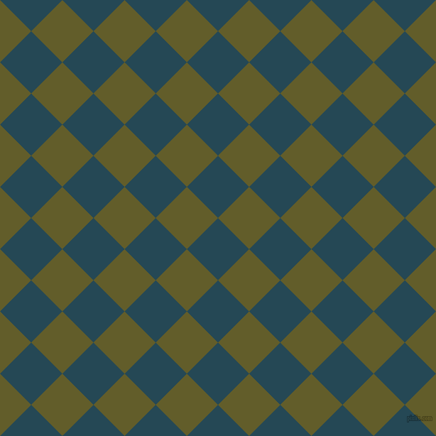 45/135 degree angle diagonal checkered chequered squares checker pattern checkers background, 62 pixel squares size, , Teal Blue and Costa Del Sol checkers chequered checkered squares seamless tileable