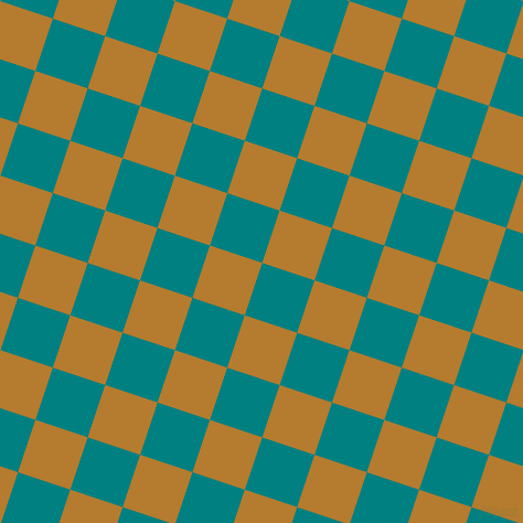 72/162 degree angle diagonal checkered chequered squares checker pattern checkers background, 50 pixel squares size, , Teal and Mandalay checkers chequered checkered squares seamless tileable