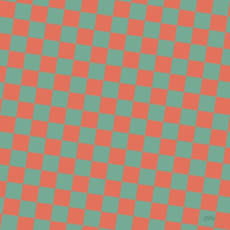 82/172 degree angle diagonal checkered chequered squares checker pattern checkers background, 33 pixel squares size, , Terra Cotta and Acapulco checkers chequered checkered squares seamless tileable