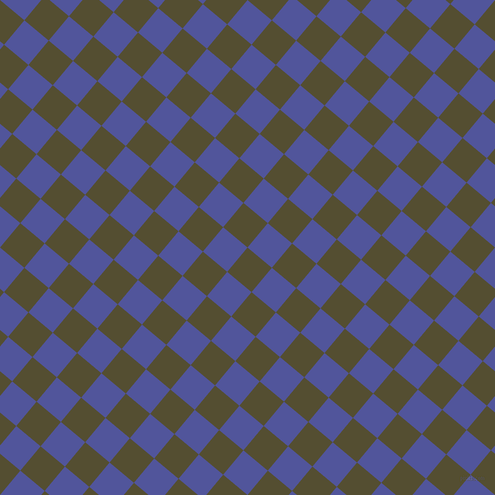 50/140 degree angle diagonal checkered chequered squares checker pattern checkers background, 45 pixel square size, , Thatch Green and Governor Bay checkers chequered checkered squares seamless tileable