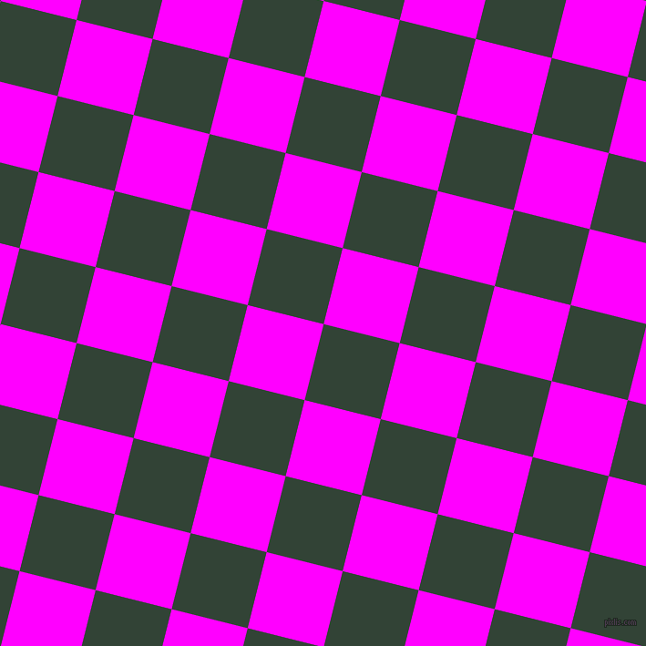 76/166 degree angle diagonal checkered chequered squares checker pattern checkers background, 86 pixel squares size, Timber Green and Magenta checkers chequered checkered squares seamless tileable