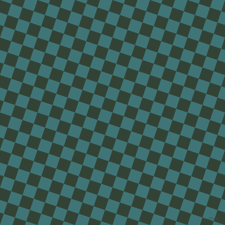 72/162 degree angle diagonal checkered chequered squares checker pattern checkers background, 38 pixel square size, , Timber Green and Ming checkers chequered checkered squares seamless tileable