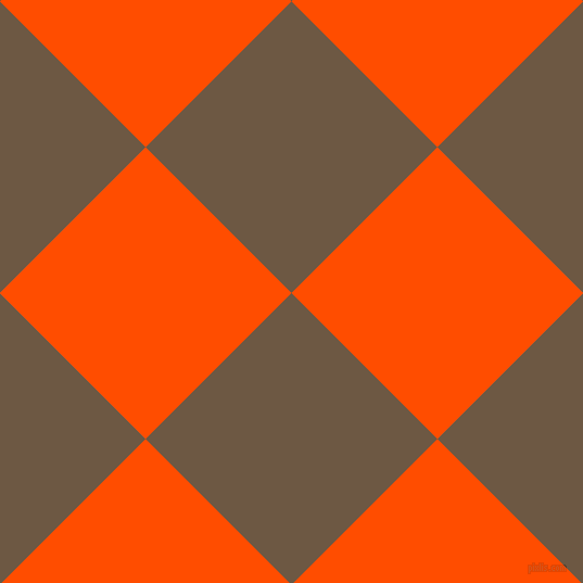 45/135 degree angle diagonal checkered chequered squares checker pattern checkers background, 190 pixel squares size, , Tobacco Brown and Vermilion checkers chequered checkered squares seamless tileable