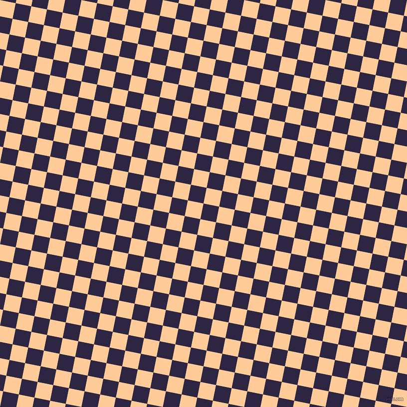 79/169 degree angle diagonal checkered chequered squares checker pattern checkers background, 32 pixel square size, , Tolopea and Peach-Orange checkers chequered checkered squares seamless tileable
