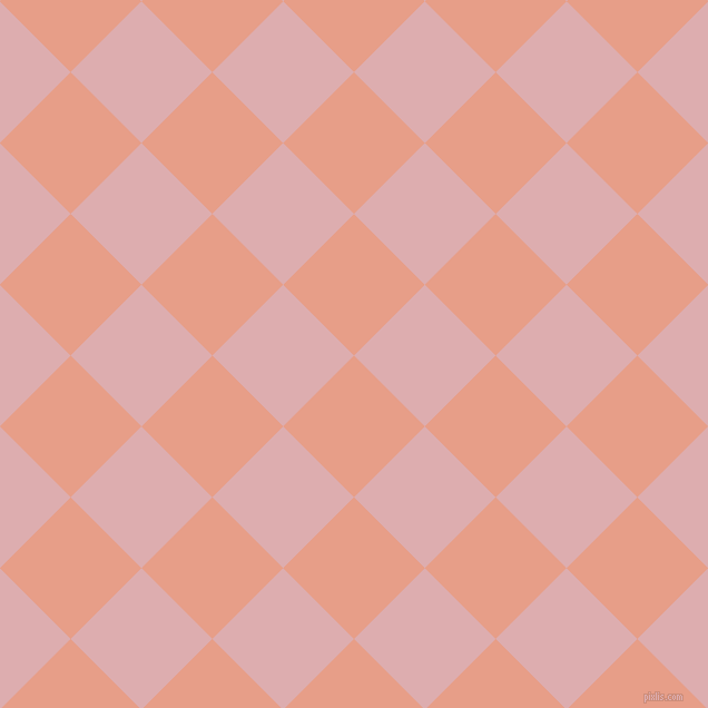 45/135 degree angle diagonal checkered chequered squares checker pattern checkers background, 90 pixel squares size, , Tonys Pink and Pale Chestnut checkers chequered checkered squares seamless tileable