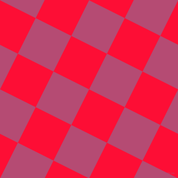 63/153 degree angle diagonal checkered chequered squares checker pattern checkers background, 164 pixel square size, , Torch Red and Royal Heath checkers chequered checkered squares seamless tileable