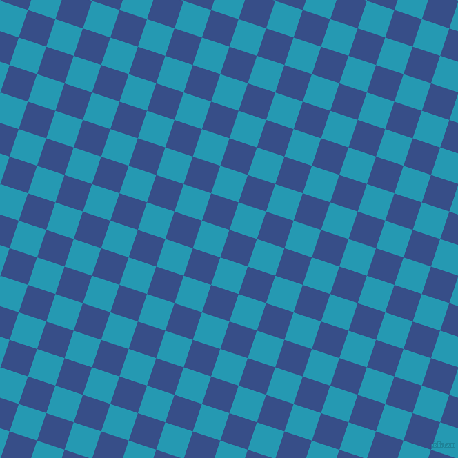 72/162 degree angle diagonal checkered chequered squares checker pattern checkers background, 42 pixel square size, , Tory Blue and Pelorous checkers chequered checkered squares seamless tileable