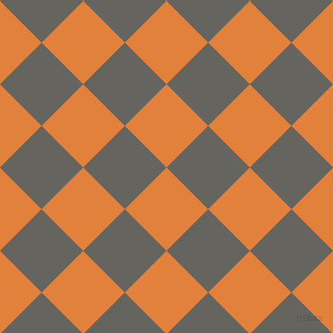 45/135 degree angle diagonal checkered chequered squares checker pattern checkers background, 84 pixel square size, , Tree Poppy and Storm Dust checkers chequered checkered squares seamless tileable