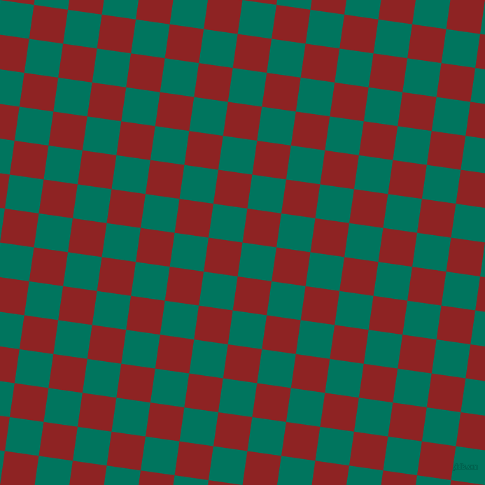 82/172 degree angle diagonal checkered chequered squares checker pattern checkers background, 49 pixel squares size, , Tropical Rain Forest and Mandarian Orange checkers chequered checkered squares seamless tileable