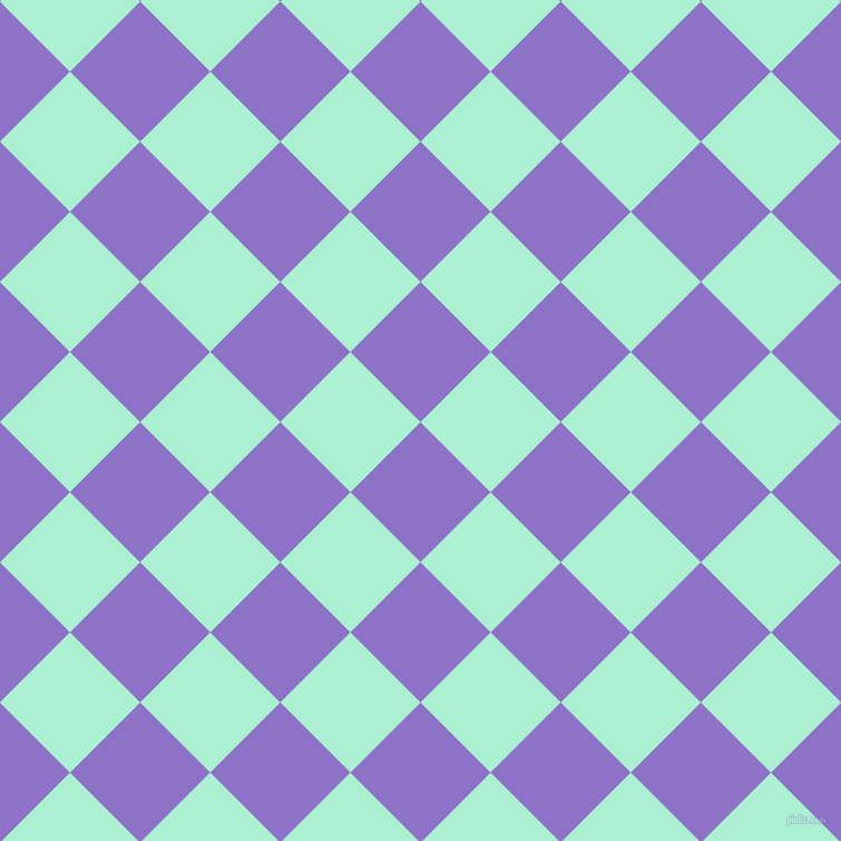 45/135 degree angle diagonal checkered chequered squares checker pattern checkers background, 89 pixel square size, , True V and Magic Mint checkers chequered checkered squares seamless tileable