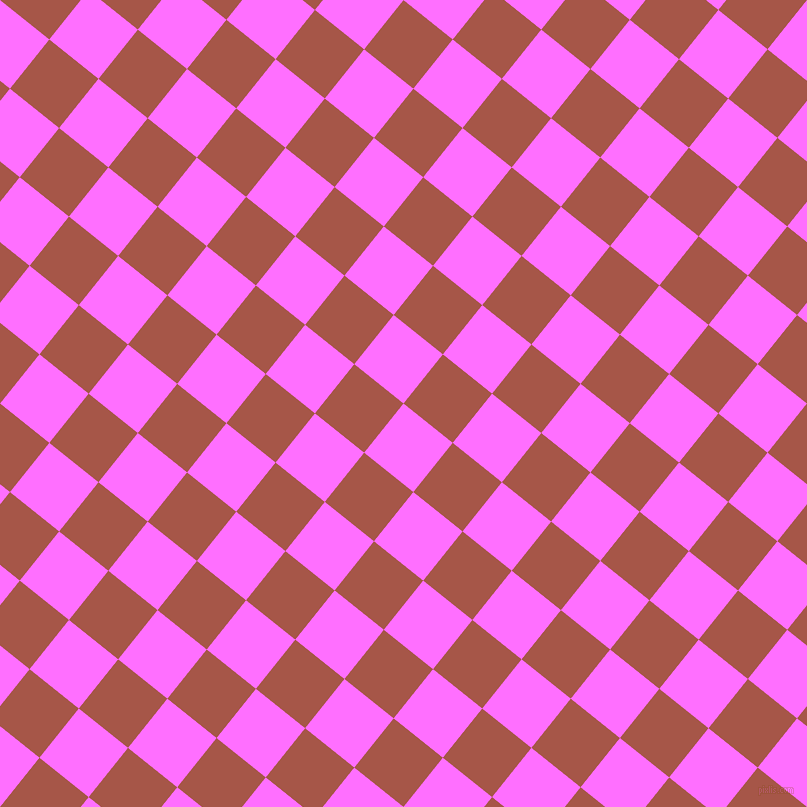 51/141 degree angle diagonal checkered chequered squares checker pattern checkers background, 63 pixel squares size, , Ultra Pink and Crail checkers chequered checkered squares seamless tileable