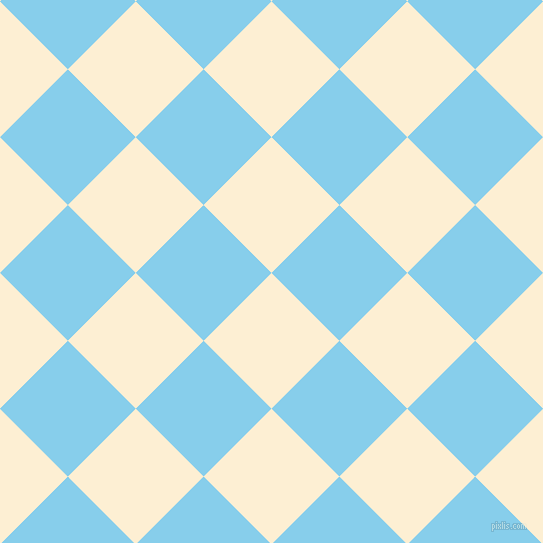 45/135 degree angle diagonal checkered chequered squares checker pattern checkers background, 96 pixel squares size, , Varden and Sky Blue checkers chequered checkered squares seamless tileable