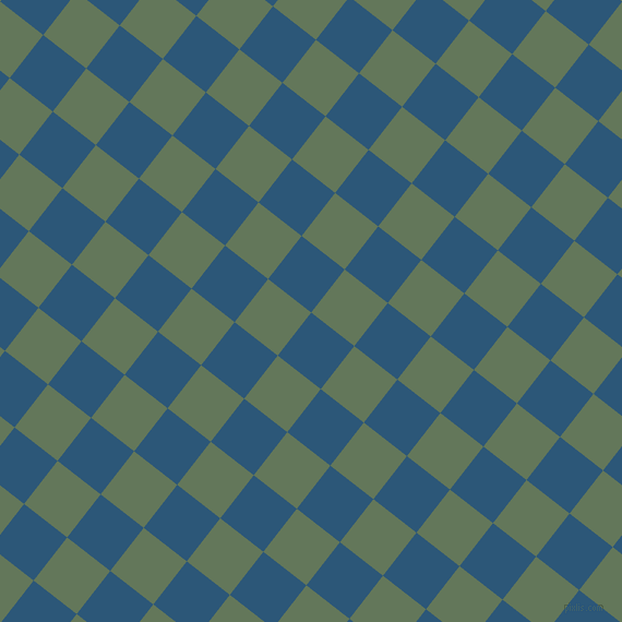 52/142 degree angle diagonal checkered chequered squares checker pattern checkers background, 50 pixel square size, , Venice Blue and Axolotl checkers chequered checkered squares seamless tileable