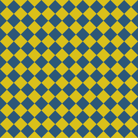 45/135 degree angle diagonal checkered chequered squares checker pattern checkers background, 41 pixel square size, , Venice Blue and Sunflower checkers chequered checkered squares seamless tileable