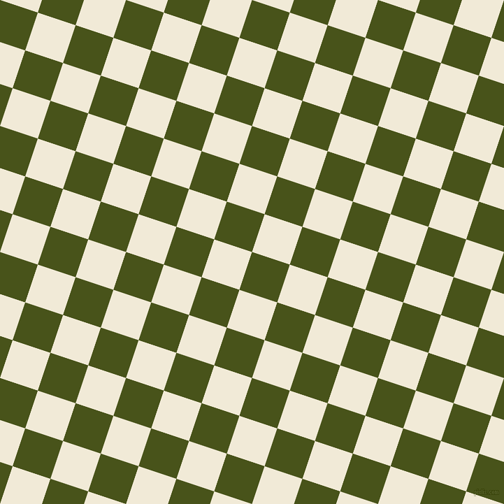 72/162 degree angle diagonal checkered chequered squares checker pattern checkers background, 57 pixel square size, Verdun Green and Half Pearl Lusta checkers chequered checkered squares seamless tileable