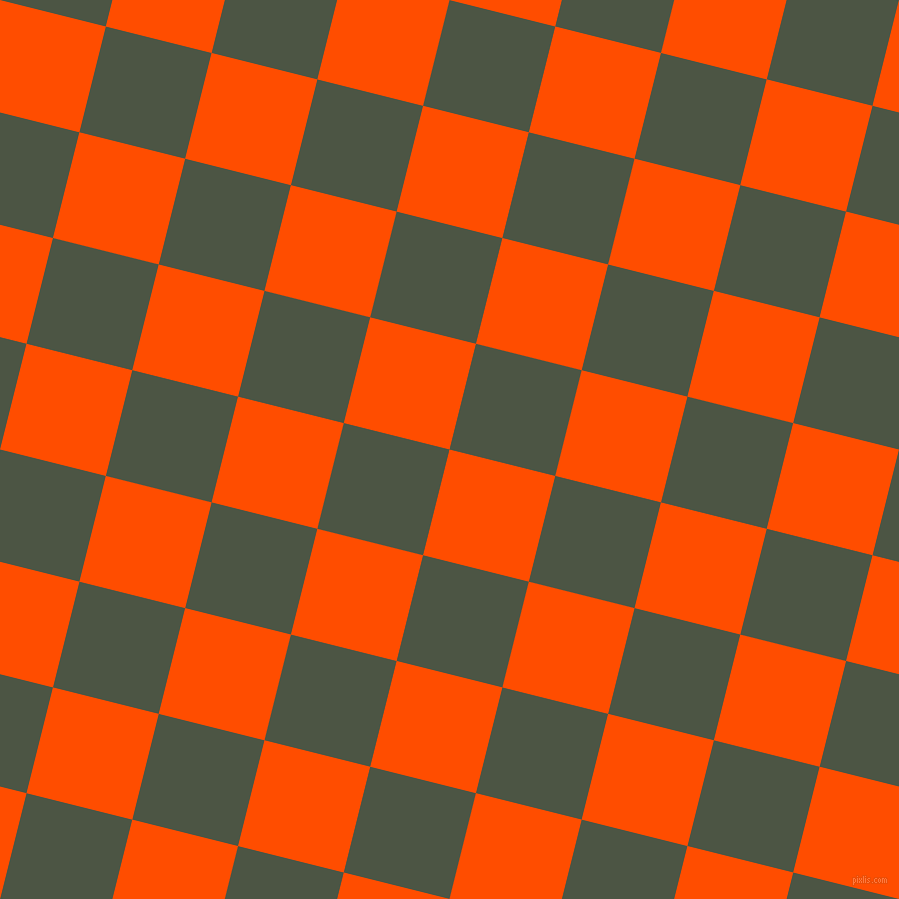 76/166 degree angle diagonal checkered chequered squares checker pattern checkers background, 109 pixel square size, , Vermilion and Cabbage Pont checkers chequered checkered squares seamless tileable