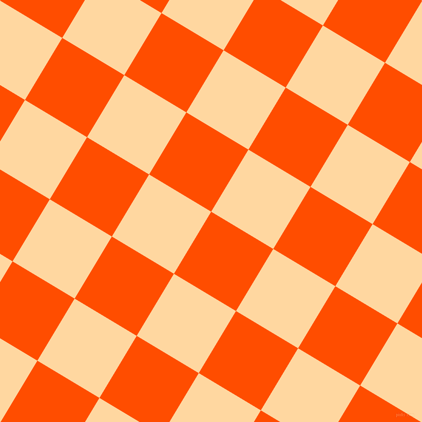 59/149 degree angle diagonal checkered chequered squares checker pattern checkers background, 141 pixel square size, , Vermilion and Frangipani checkers chequered checkered squares seamless tileable