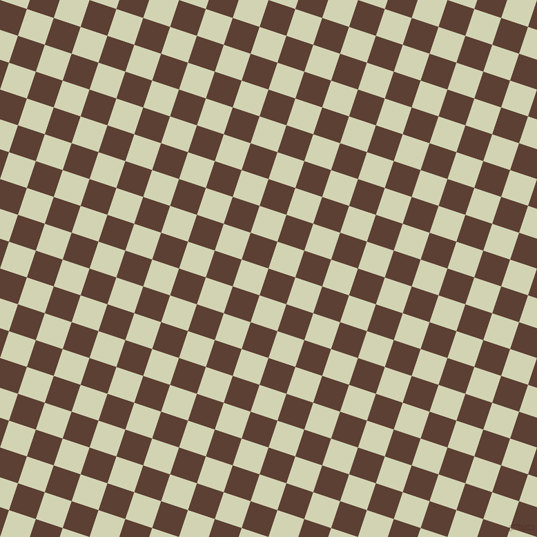 72/162 degree angle diagonal checkered chequered squares checker pattern checkers background, 41 pixel squares size, , Very Dark Brown and Orinoco checkers chequered checkered squares seamless tileable