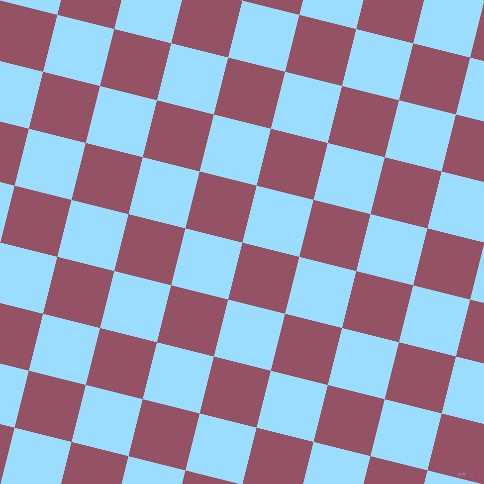 76/166 degree angle diagonal checkered chequered squares checker pattern checkers background, 118 pixel square size, Vin Rouge and Columbia Blue checkers chequered checkered squares seamless tileable