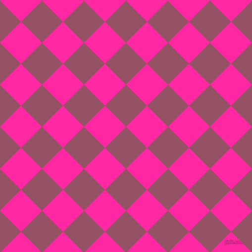 45/135 degree angle diagonal checkered chequered squares checker pattern checkers background, 60 pixel squares size, , Vin Rouge and Persian Rose checkers chequered checkered squares seamless tileable