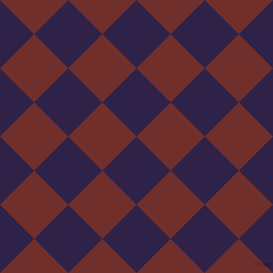 45/135 degree angle diagonal checkered chequered squares checker pattern checkers background, 97 pixel squares size, , Violent Violet and Auburn checkers chequered checkered squares seamless tileable