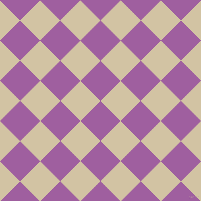 45/135 degree angle diagonal checkered chequered squares checker pattern checkers background, 100 pixel squares size, , Violet Blue and Double Spanish White checkers chequered checkered squares seamless tileable