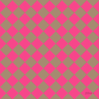 45/135 degree angle diagonal checkered chequered squares checker pattern checkers background, 36 pixel square size, , Violet Red and Mongoose checkers chequered checkered squares seamless tileable