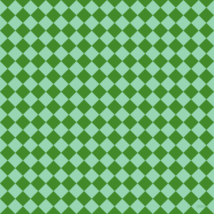 45/135 degree angle diagonal checkered chequered squares checker pattern checkers background, 35 pixel square size, , Vista Blue and La Palma checkers chequered checkered squares seamless tileable