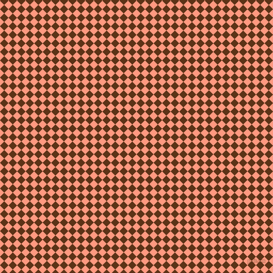 45/135 degree angle diagonal checkered chequered squares checker pattern checkers background, 12 pixel squares size, , Vivid Tangerine and Baker