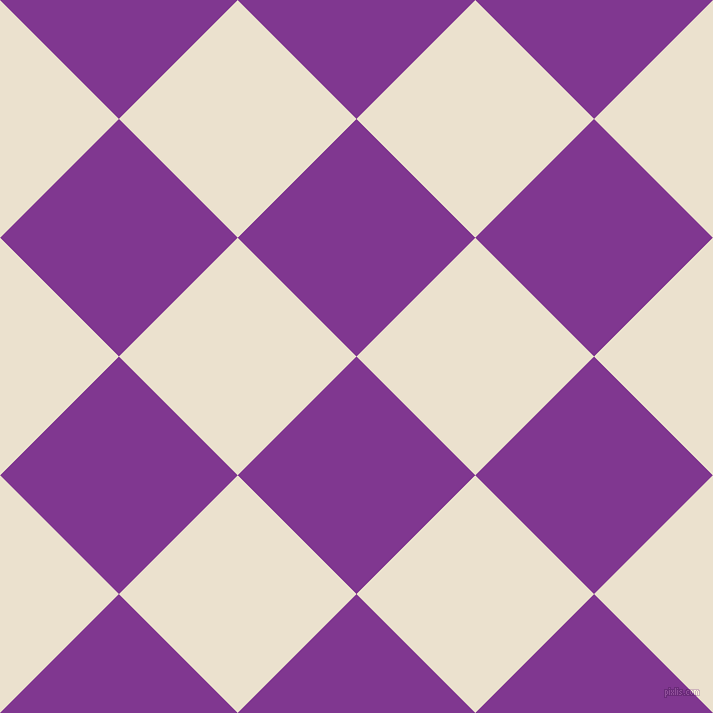45/135 degree angle diagonal checkered chequered squares checker pattern checkers background, 168 pixel square size, , Vivid Violet and Bleach White checkers chequered checkered squares seamless tileable