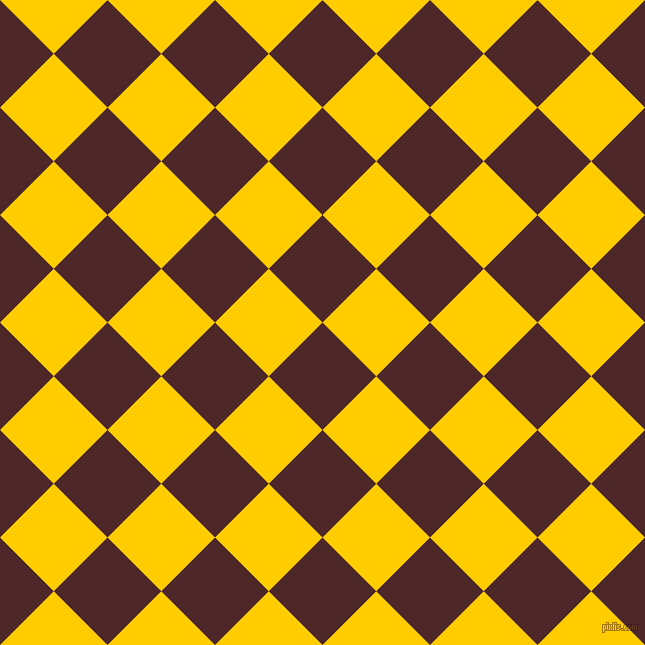 45/135 degree angle diagonal checkered chequered squares checker pattern checkers background, 76 pixel square size, , Volcano and Tangerine Yellow checkers chequered checkered squares seamless tileable