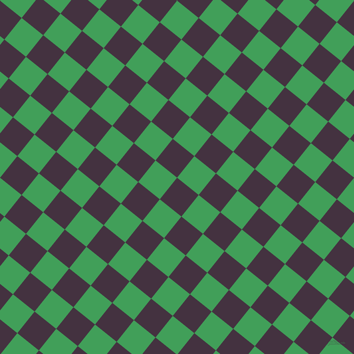 51/141 degree angle diagonal checkered chequered squares checker pattern checkers background, 56 pixel squares size, , Voodoo and Chateau Green checkers chequered checkered squares seamless tileable