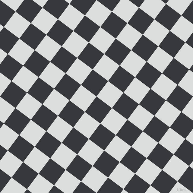 53/143 degree angle diagonal checkered chequered squares checker pattern checkers background, 64 pixel squares size, , Vulcan and Athens Grey checkers chequered checkered squares seamless tileable