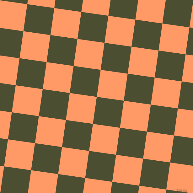 82/172 degree angle diagonal checkered chequered squares checker pattern checkers background, 87 pixel squares size, , Waiouru and Atomic Tangerine checkers chequered checkered squares seamless tileable