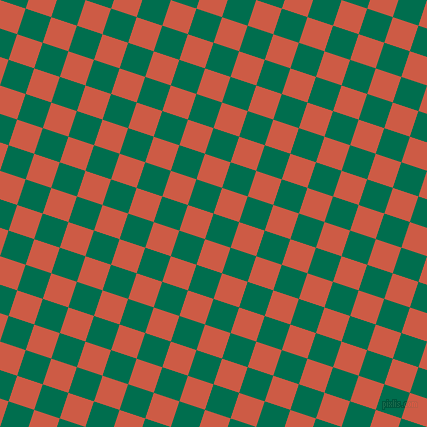 72/162 degree angle diagonal checkered chequered squares checker pattern checkers background, 27 pixel squares size, , Watercourse and Dark Coral checkers chequered checkered squares seamless tileable