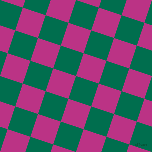 72/162 degree angle diagonal checkered chequered squares checker pattern checkers background, 77 pixel square size, , Watercourse and Red Violet checkers chequered checkered squares seamless tileable
