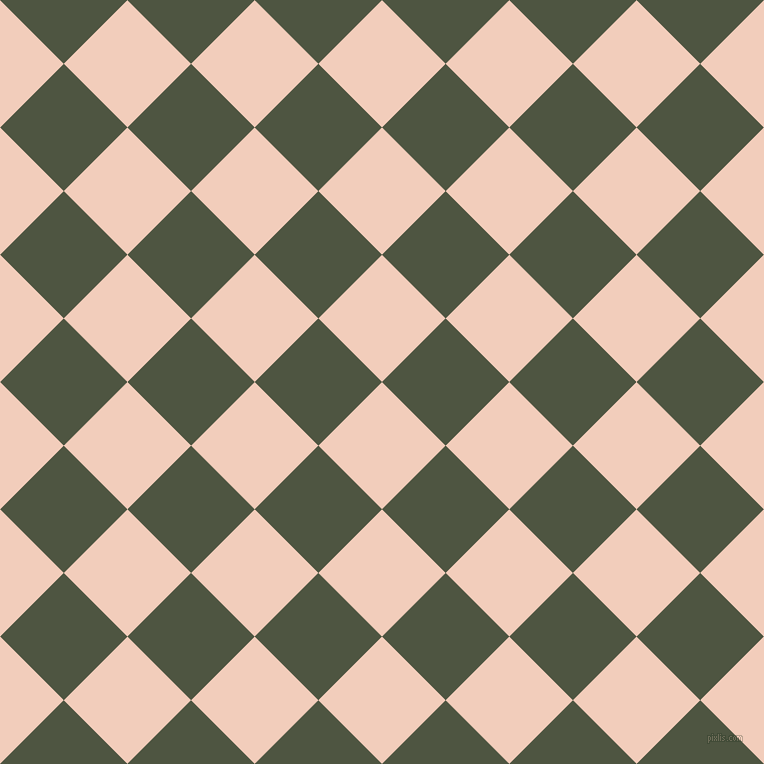 45/135 degree angle diagonal checkered chequered squares checker pattern checkers background, 90 pixel squares size, , Watusi and Lunar Green checkers chequered checkered squares seamless tileable