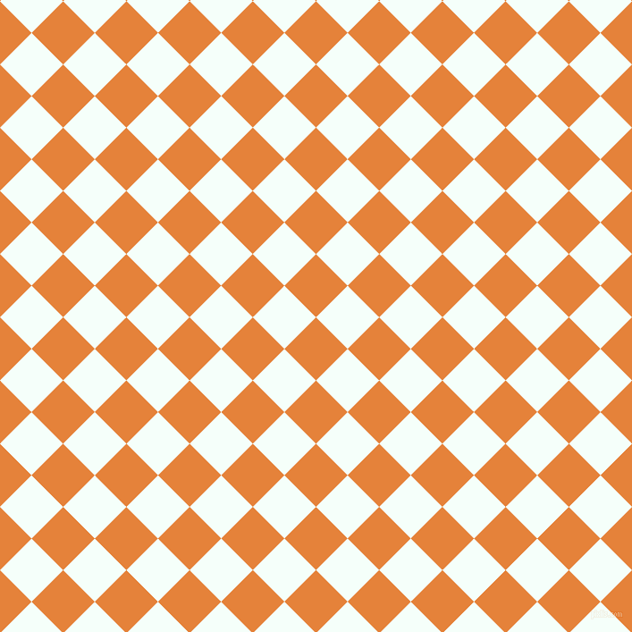 45/135 degree angle diagonal checkered chequered squares checker pattern checkers background, 50 pixel squares size, , West Side and Mint Cream checkers chequered checkered squares seamless tileable