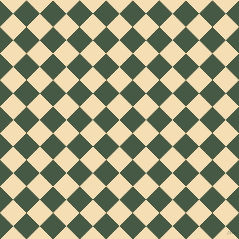45/135 degree angle diagonal checkered chequered squares checker pattern checkers background, 61 pixel square size, , Wheat and Grey-Asparagus checkers chequered checkered squares seamless tileable