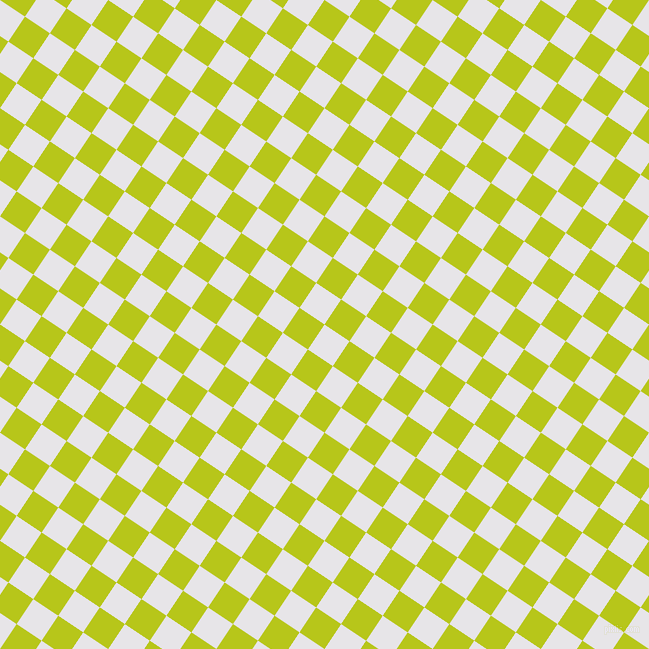 56/146 degree angle diagonal checkered chequered squares checker pattern checkers background, 30 pixel squares size, , White Lilac and Rio Grande checkers chequered checkered squares seamless tileable
