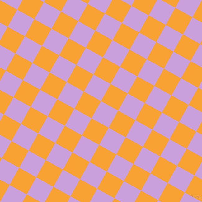 61/151 degree angle diagonal checkered chequered squares checker pattern checkers background, 63 pixel squares size, , Wisteria and Lightning Yellow checkers chequered checkered squares seamless tileable