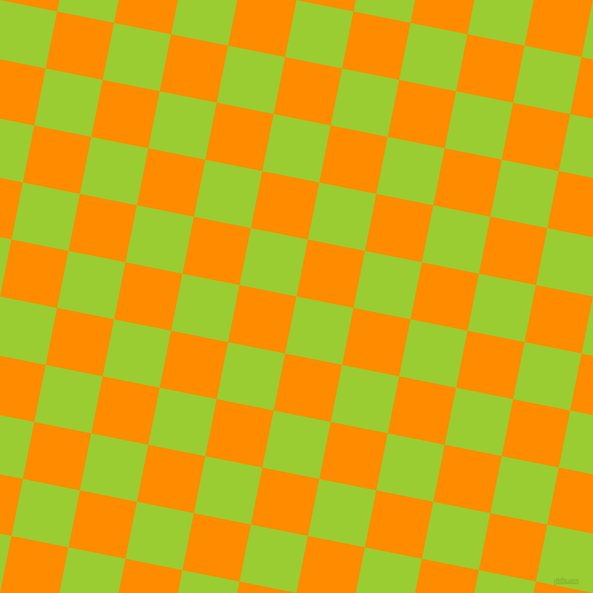 79/169 degree angle diagonal checkered chequered squares checker pattern checkers background, 85 pixel square size, , Yellow Green and Dark Orange checkers chequered checkered squares seamless tileable
