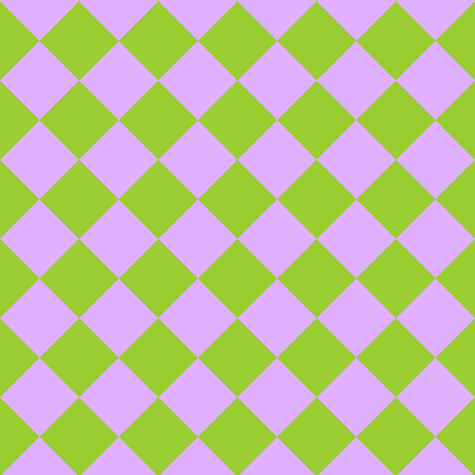 45/135 degree angle diagonal checkered chequered squares checker pattern checkers background, 56 pixel square size, , Yellow Green and Mauve checkers chequered checkered squares seamless tileable