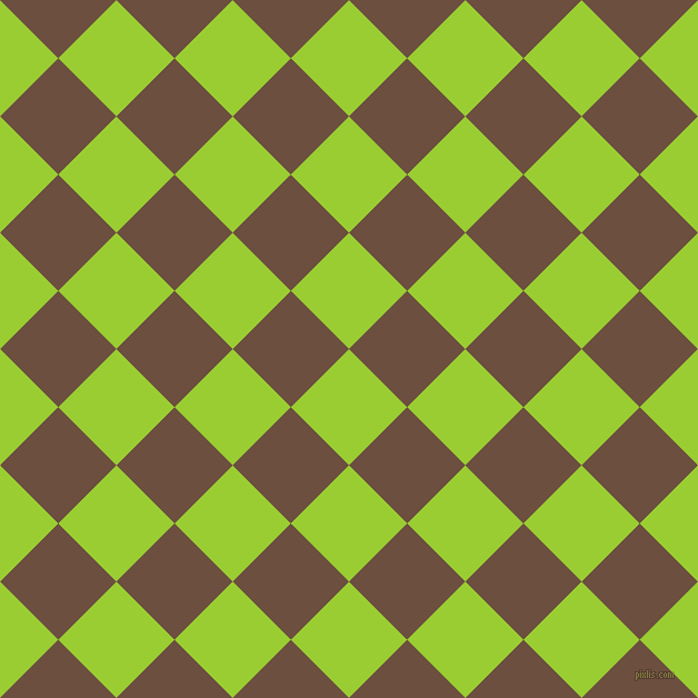 45/135 degree angle diagonal checkered chequered squares checker pattern checkers background, 74 pixel square size, , Yellow Green and Spice checkers chequered checkered squares seamless tileable